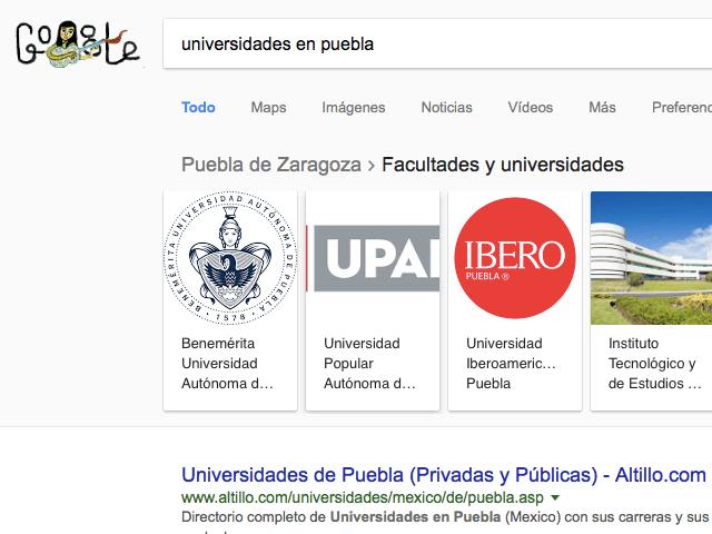 Universidades de Psicología Puebla